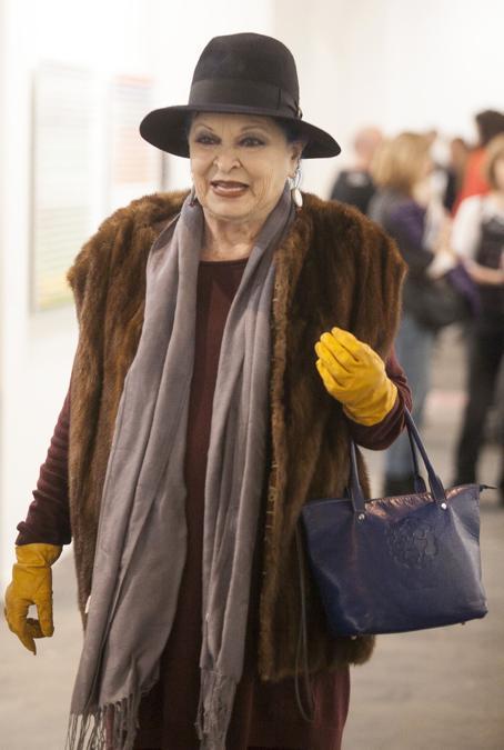 2014 - Lucia Bose alla Fiera internazionale dell'arte contemporanea. (foto IPP)