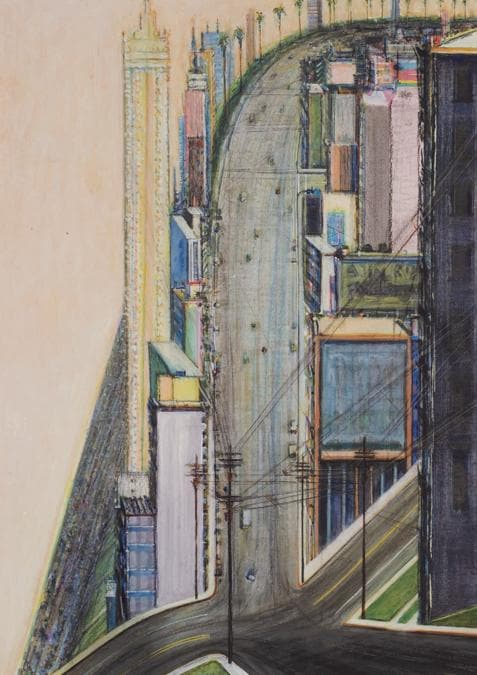Wayne Thiebaud. PALM RIDGE INTERSECTION. Estimate 200.000 - 300.000 USD. Venduto a 698.000 USD