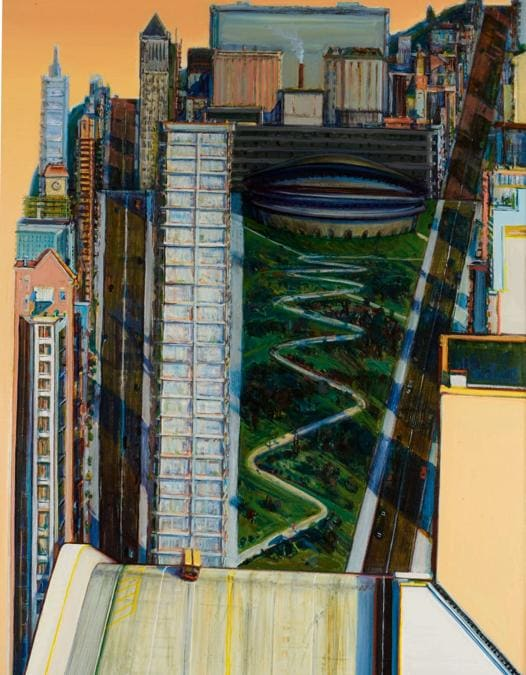 Wayne Thiebaud. CIVIC CENTER. Estimate 2.500.000 - 3.500.000 USD. Venduto a 3.260.000 USD