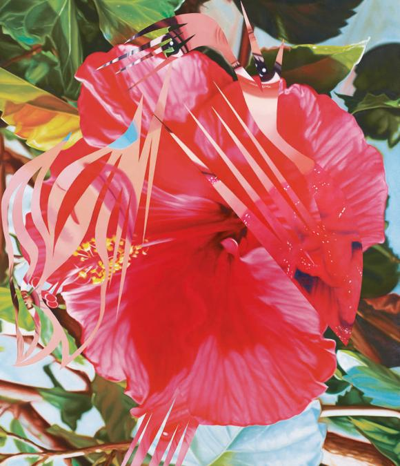 James Rosenquist. MORE POINTS ON THE EDGE OF THE BLOSSOM. Estimate 300.000 - 400.000 USD. Venduto a 596.000 USD