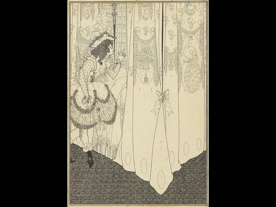 The Dream 1896. Ink over graphite on paper 257 x 178 mm. The J. Paul Getty Museum, Los Angeles
