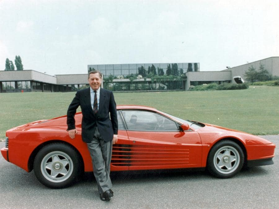 Sergio Pininfarina e Ferrari Testarossa, 1985