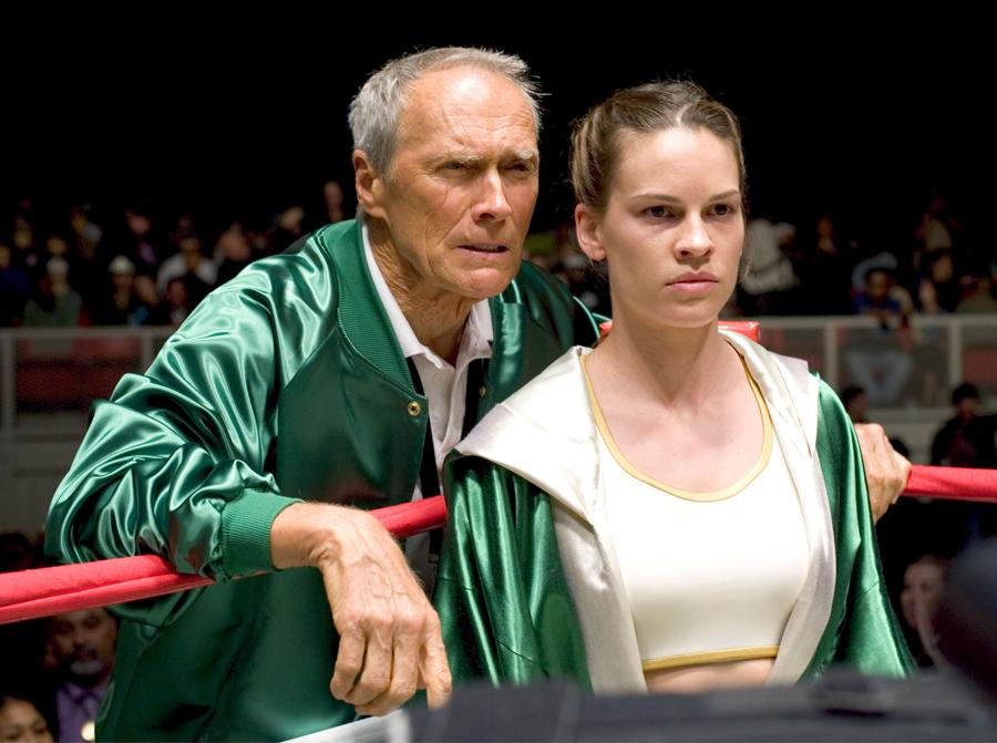 2005 - Million dollar baby - Clint Eastwood e Hilary Swank. (Collection Christophel © Lakeshore Entertainment / Malpaso Productions)