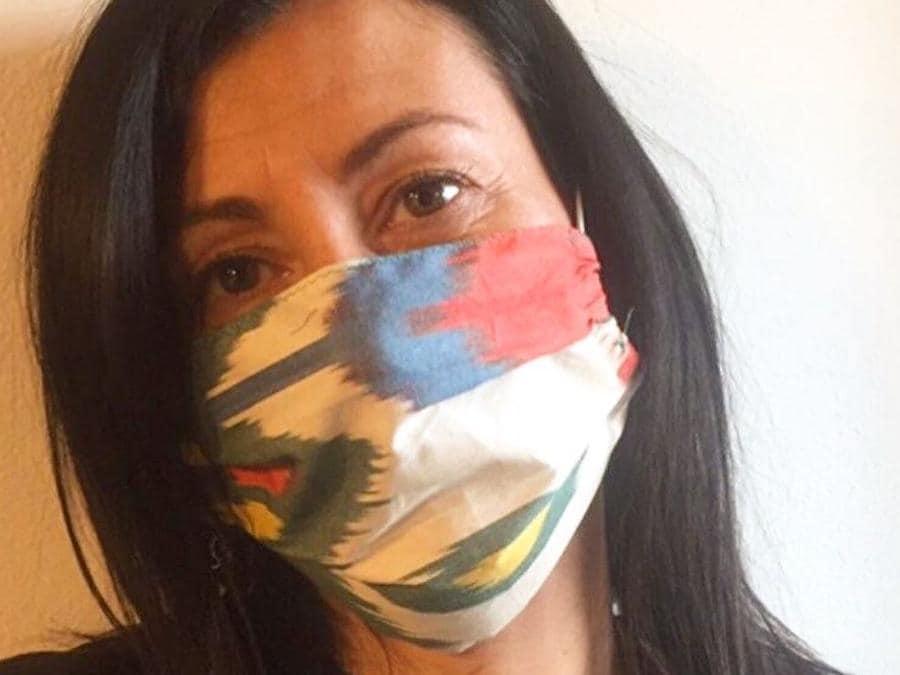Una delle mascherine dell'Atelier Sabelle di Firenze