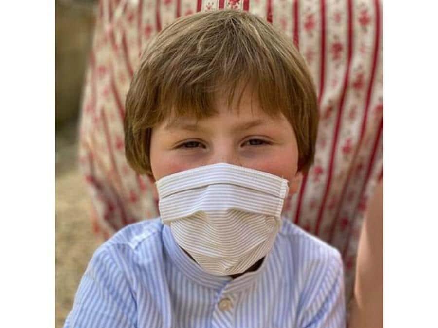 Trovailtempo Atelier dei sogni, mascherina per bambino realizzato in cotone tnt
