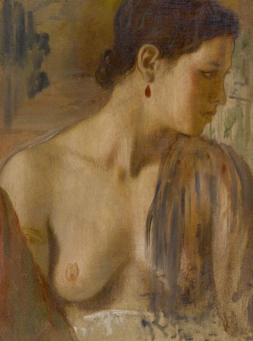 Edgar Degas, Buste de jeune femme presque nue