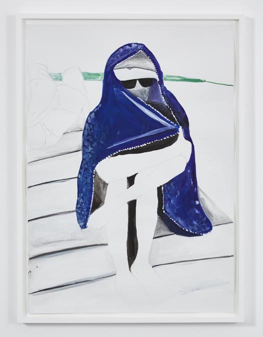 ISABELLA BORTOLOZZI - Juliette Blightman - Day 274 - 2016 - Gouache su carta - 74.3 x 54.6 cm (con cornice) - Unico - Courtesy dell'artista e Isabella Bortolozzi, Berlino