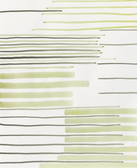 Silvia Bächli, Untitled 2020, 80 x 60 cm, gouache su carta, 8.100 euro + Iva, offerto dalla galleria Raffaella Cortese a Frieze Viewing Room