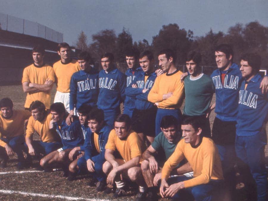 Foto della nazionale italiana durante il Mondiale del Messico