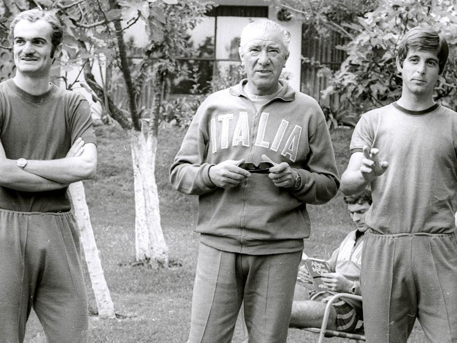 Da sinistra, Sandro Mazzola, Ferruccio Valcareggi   e Gianni Rivera (ANSA ARCHIVIO / I51)