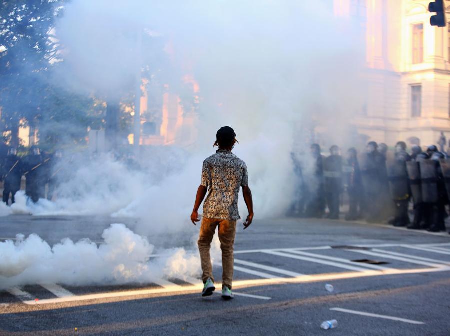 Proteste ad Atlanta - Georgia. (REUTERS/Dustin Chambers)
