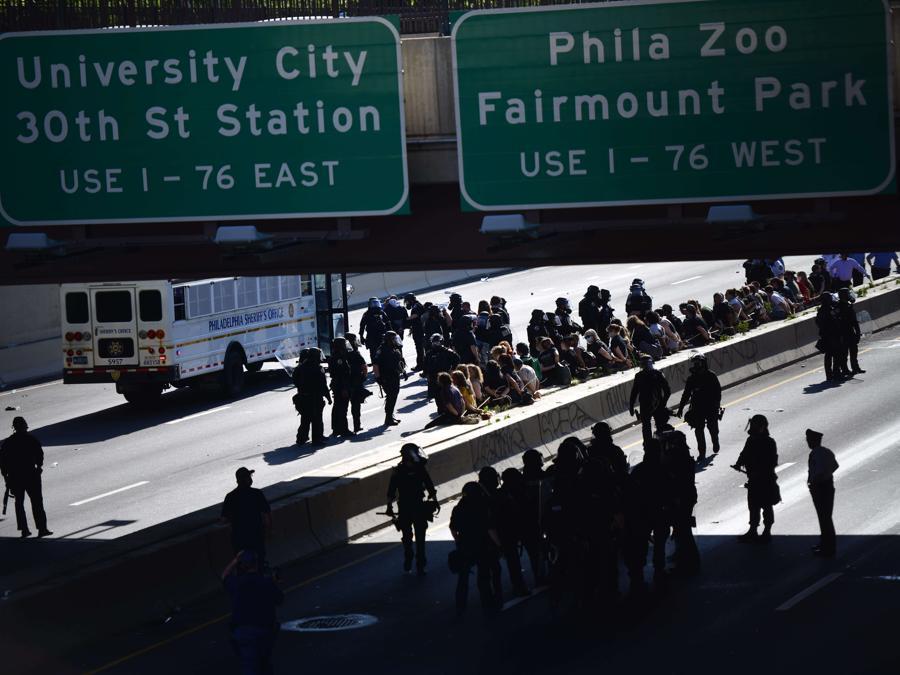 Proteste a Philadelphia. (Mark Makela/Getty Images/AFP)