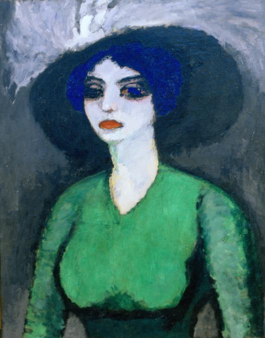 Kees van Dongen (1877–1968), Femme à la blouse verte, circa 1910, Olio su tela, 100 x 81 cm, Private Collection, Courtesy Richard Nagy Ltd., London