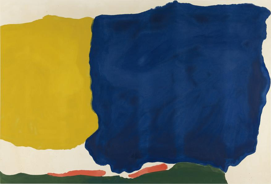 Helen Frankenthaler, Head of the Meadow, 1967, stima 600-800 mila dollari, venduto per 3.020.000 dollari, Courtesy Phillips