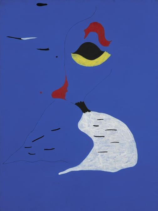 Joan Miró, Peinture (Femme au chapeau rouge), 1927, oil on canvas (est. £20-30 million)