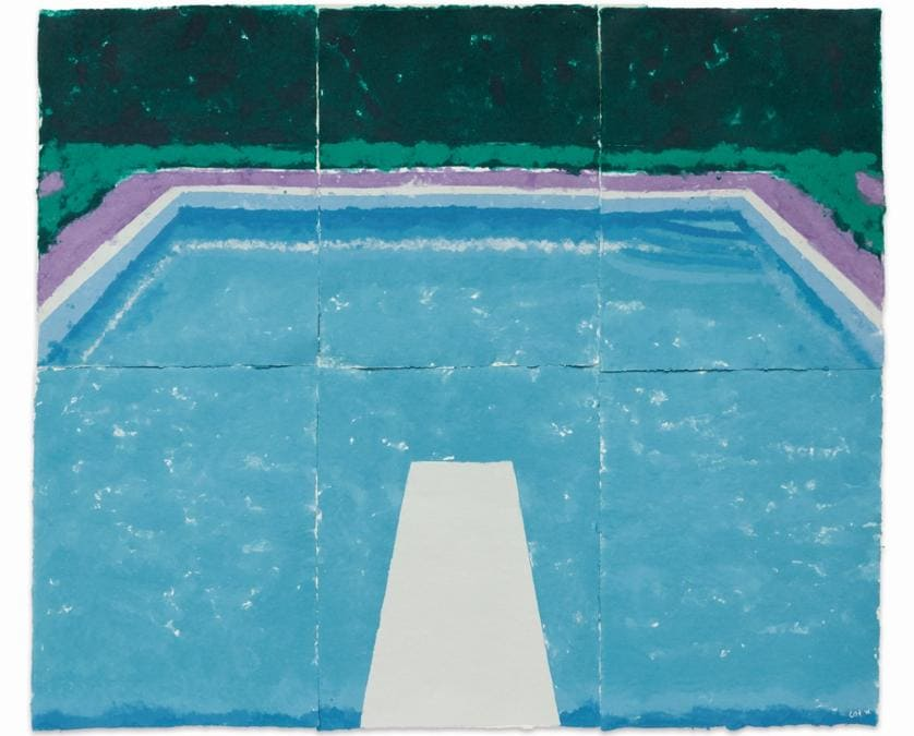 David Hockney, Pool on a Cloudy Day with Rain (Paper Pool 22), est. £4-6 million