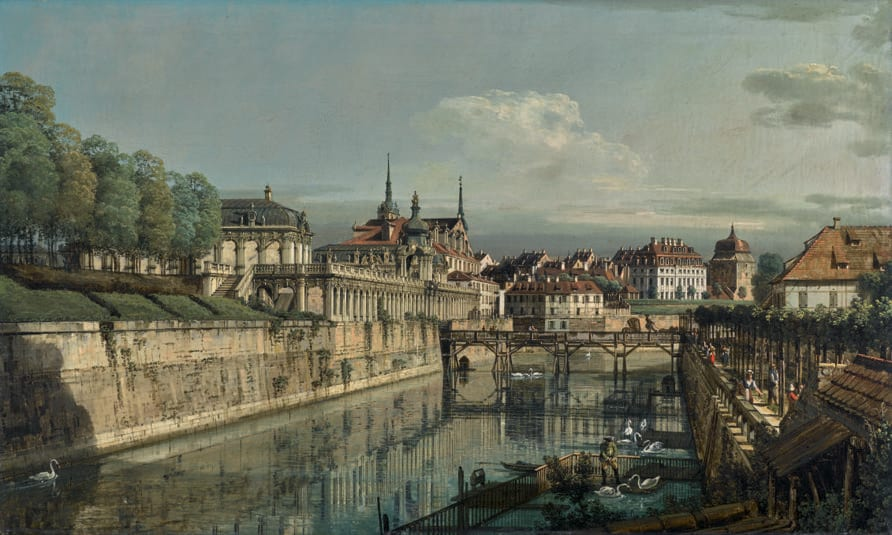 Bernardo Bellotto, Dresden a View of the Moat of the Zwinger