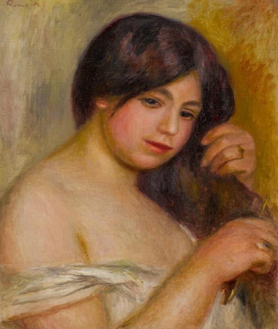 10369 lot 18 Pierre Auguste Renoir, Femme se peigant