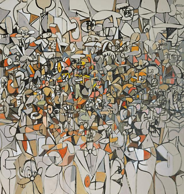 10371 Lot 417 - George Condo, Population of Forms