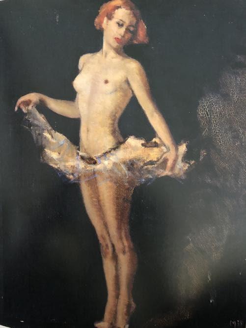 Carla Maria Maggi, Capelli rossi 1935, olio su tela 80 x 50 cm