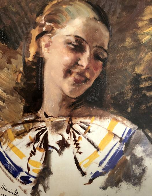 Carla Maria  Maggi, La risata 1935, olio su tela 60 x 650 cm