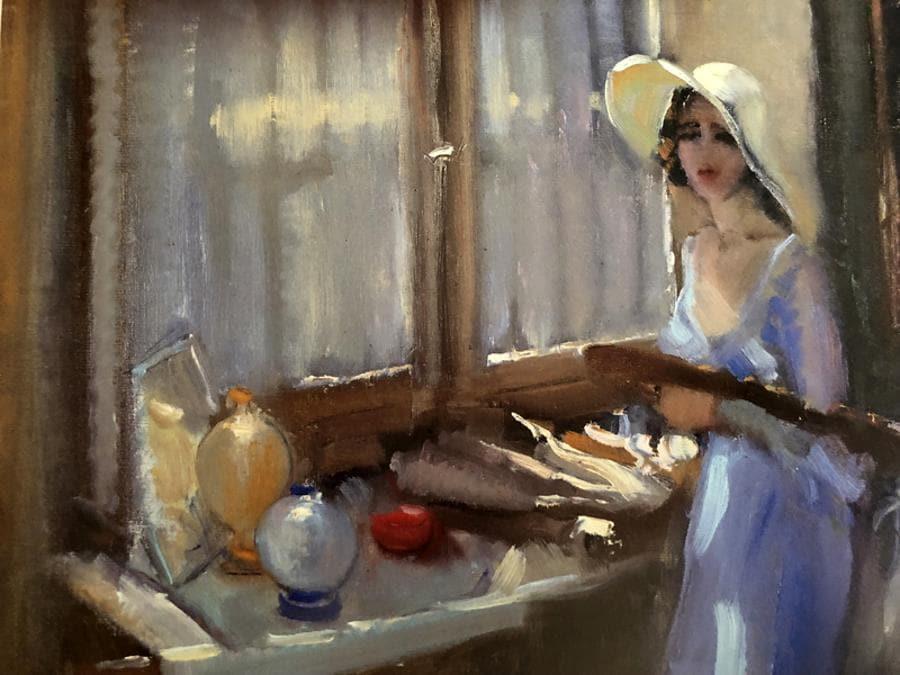 Carla Maria Maggi, Nello studio 1938, olio su tela 35 x 55 cm