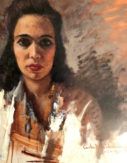 Carla Maria Maggi, Lo sguardo di Judith 1940, 75x45