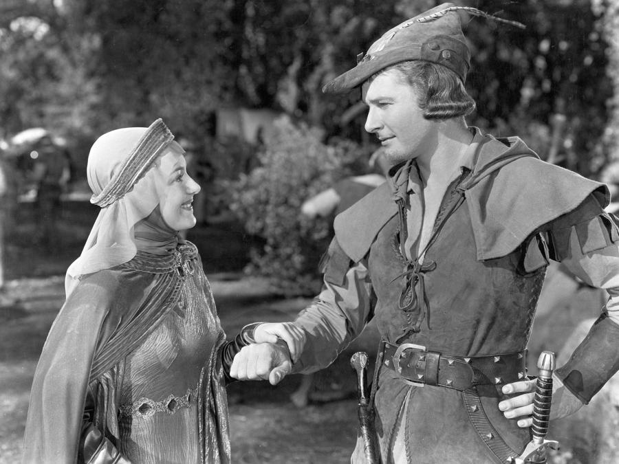 «Le avventure di Robin Hood» Errol Flynn e Olivia De Havilland 1938 Warner Bros. (Reuters)