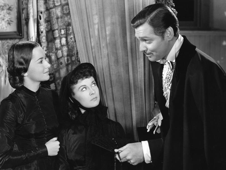 «Via col vento» Olivia de Havilland, Vivien Leigh e Clark Gable 1939 Selznick (Reuters)