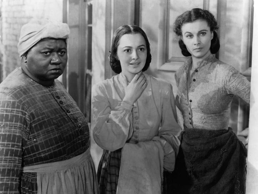 «Via col vento» Hattie McDaniel, Olivia de Havilland, Vivien Leigh 1939 MGM (Reuters)