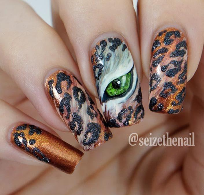Animal print, unghie adornate con ghepardi, zebre, leoni e altri animali della giungla