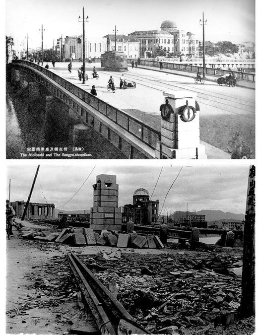 (Hiroshima Peace Memorial Museum (sopra) e Shigeo Hayashi/Hiroshima Peace Memorial Museum (sotto)/Handout via Reuters)