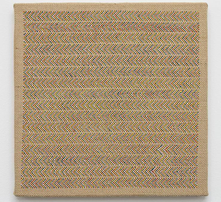 """Alessandro Carano, """"My art"""", 2020, acrilico su iuta, 30x30 cm, fotografia di Filippo Armellin, Courtesy Castiglioni Milano (Copyright 2020 Armellin F.)"""