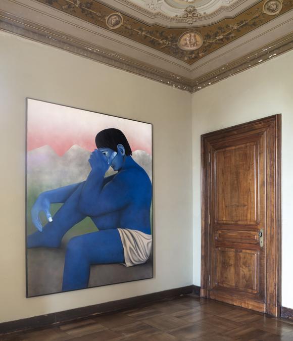 Un'opera di Vojtěch Kovařík nella mostra di Mendes Wood DM a Villa Era nel Biellese, Fotografia di Renato Ghiazza, Courtesy Mendes Wood DM