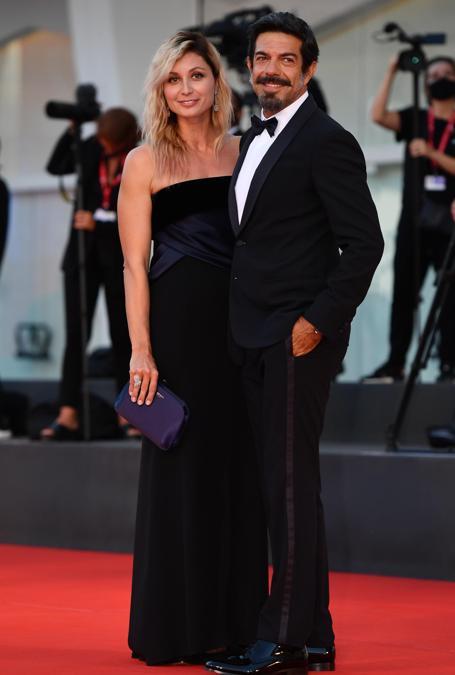 Pierfrancesco Favino con la moglie Anna Ferzetti (ANSA/ETTORE FERRARI)