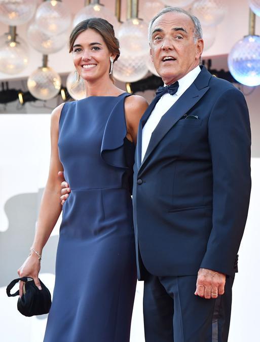 Alberto Barbera con la moglie Julia Barbera (Photo by Tiziana FABI / AFP)