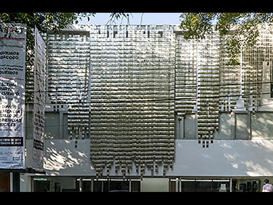 NOE MARTÍNEZ - La Última Parte del Cuerpo, 2019 - Aluminium plaques and obsidian,ceramic and shell incrustations - Installation, Sala de Arte Público Siqueiros, Mexico City - Courtesy the artist and LLANO (Mexico City)