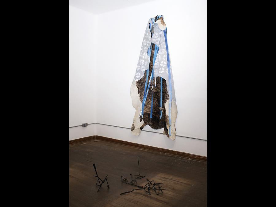 NOE MARTÍNEZ - Las Demandas de la Memoria. Cuerpo, Paisaje y el Intruso, 2019 - Exhibition view, Parque Galería, Mexico City - Courtesy the artist and LLANO (Mexico City)