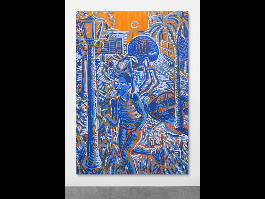LUÍS LÁZARO MATOS - The Fictional Passengers #7,2019 - Acrylic on canvas - 220 × 150 cm
