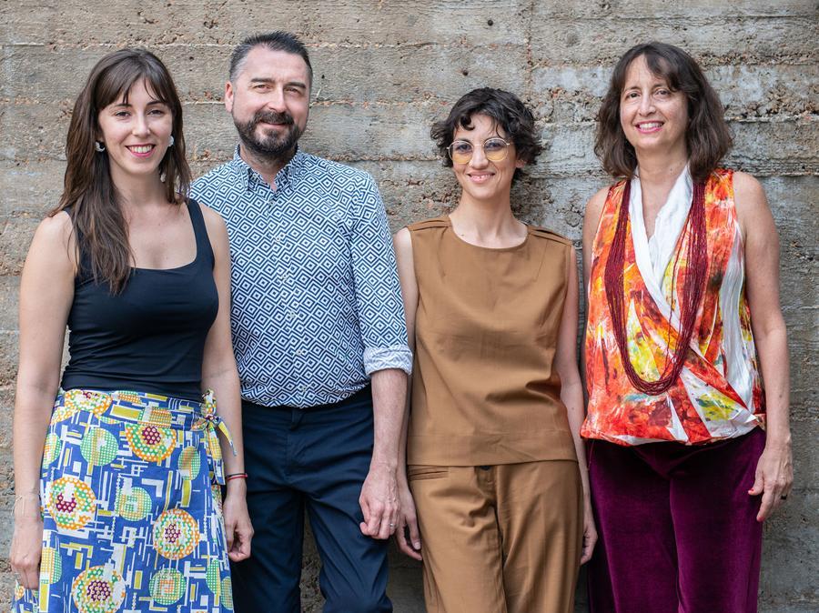 Le curatrici della 11a Berlin Biennale für zeitgenössische Kunst, da sinistra a destra: Renata Cervetto, Agustín Pérez Rubio, María Berríos, Lisette Lagnado, Foto: F. Anthea Schaap, Courtesy Berlin Biennale