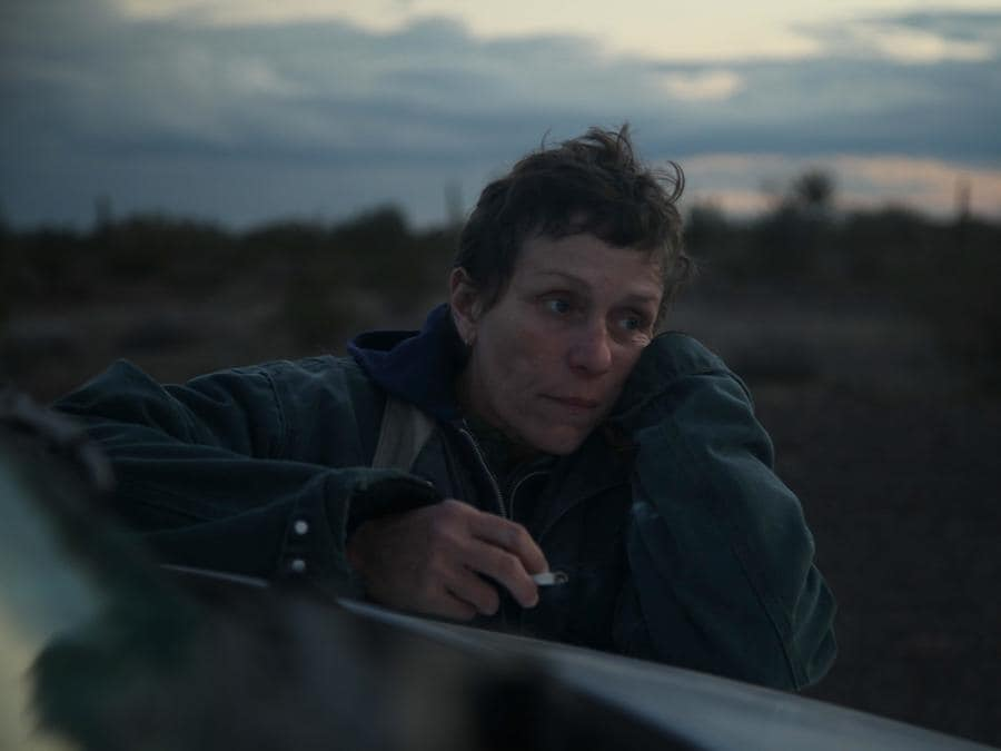 Frances McDormand nel film Nomadland. Photo Courtesy of Searchlight Pictures. 2020 20th Century Studios All Rights Reserved