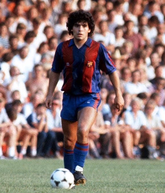 Diego Armando Maradona  con la maglia del Barcellona  - 1982 (Ipp)