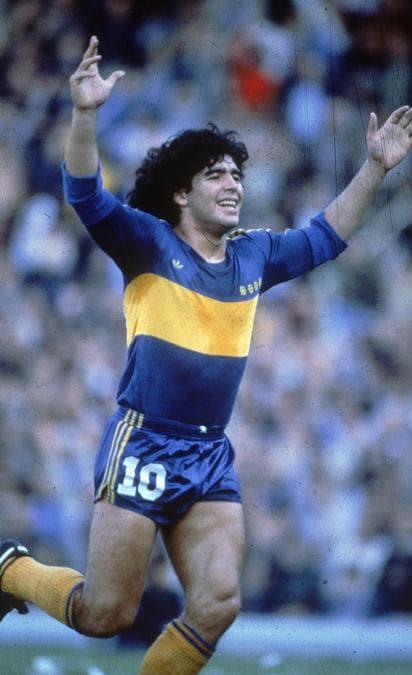 Diego Armando Maradona con la maglia del Boca Juniors (Ipp)