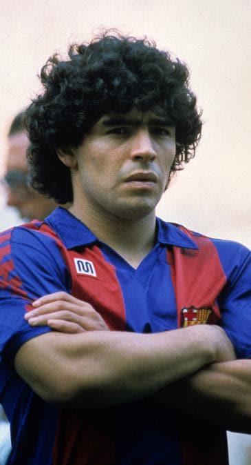 Barcellona campionato 1983-1984 foto IPP/alberto sabattini barcellona campionato calcio liga 1983-1984 nella foto Diego Armando Maradona (Alberto Sabattini/Ipp)