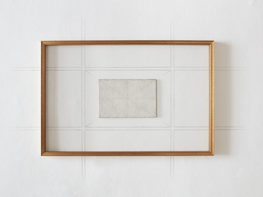 Le Chef-d'oeuvre inconnu, 2020 - L'opera è ispirata a Disegno geometrico, 1960. L'intero ambiente espositivo è una versione tridimensionale, amplificata e percorribile della stessa opera e delle infinite possibilità a cui essa rimanda. Courtesy Castello di Rivoli