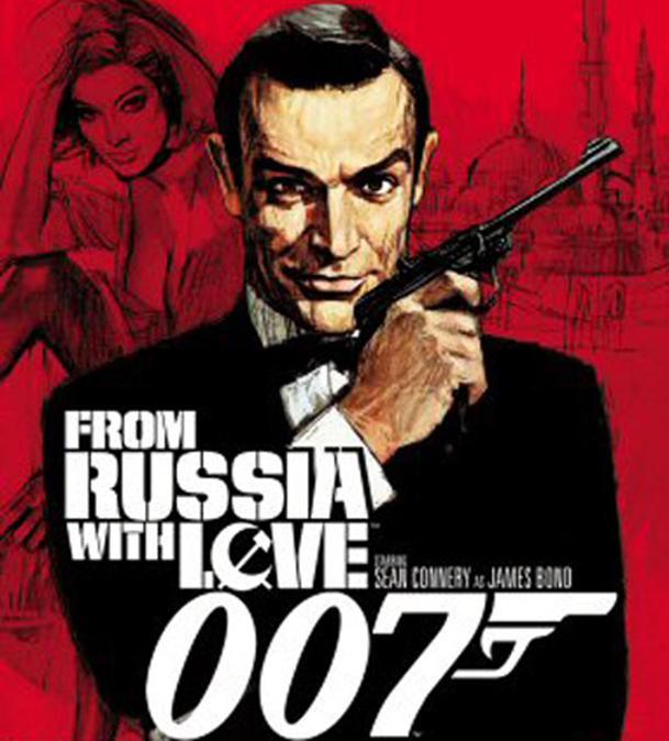 """Il manifesto del film """"007 dalla Russia con amore"""", interpretato da Sean Connery e diretto, nel 1963, dal regista Terence Young. ANSA"""