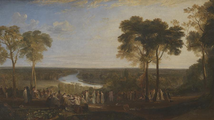 Joseph Mallord William Turner, England,  Richmond Hill, on the Prince Regent's Birthday, exhibited 1819, Tate