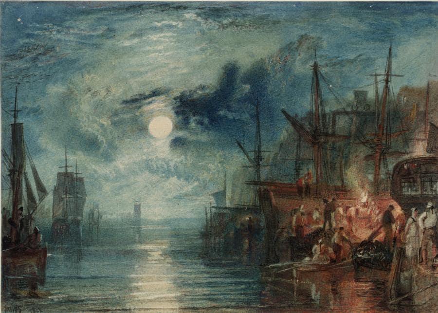 Joseph Mallord William Turner, Shields, on the River Tyne 1823 Tate