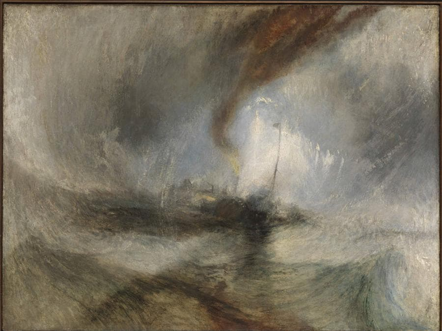 Joseph Mallord William Turner,  Snow Storm - Steam-Boat off a Harbour's Mouth exhibited, 1842, Tate