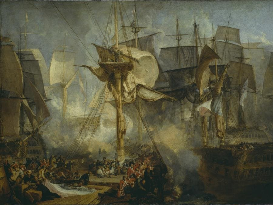 Joseph Mallord William Turner,  The Battle of Trafalgar, as Seen from the Mizen Starboard Shrouds of the Victory 1806–8, Tate